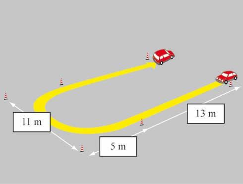 Esame pratico della patente AM curva