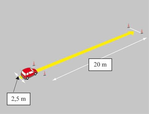 Esame pratico della patente AM frenata di precisione