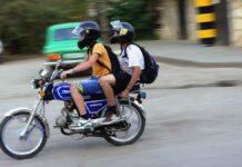 Multa in due in moto